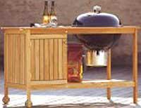 Med en ekstra hylle eller et skap kan du oppbevare de viktigste kjøkkenredskapene ute.
