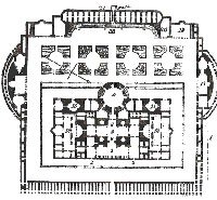 Oversiktstegning Caracallas termer, Roma