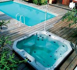 Et spa montert utendørs kan bidra til å heve livskvaliteten