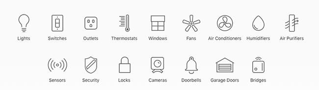 Smart home funktioner i Apple Home Kit.