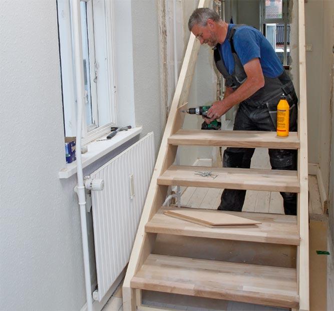 guide til å bygge trapp selv