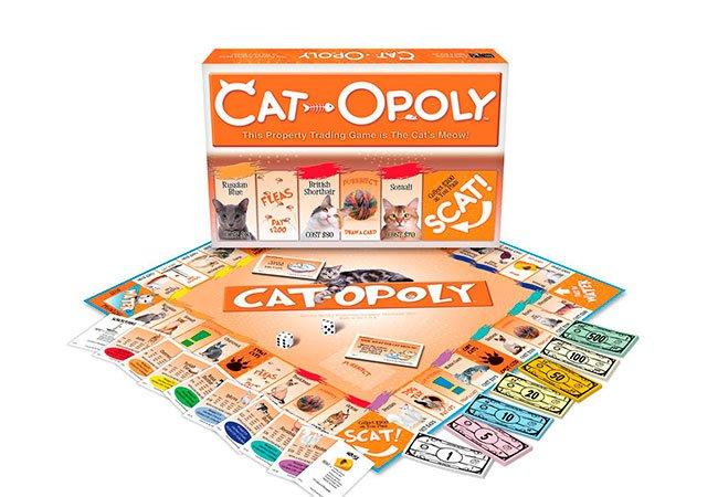 Spillebræt til Cat-Opoly - Kattematador - foldet ud.
