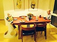 Epoxy gulv i rum med børn.