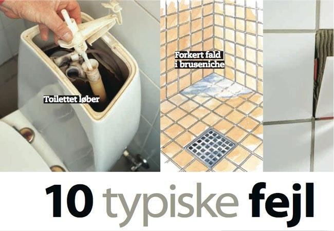 10 fejl, du SKAL undgå i badeværelset