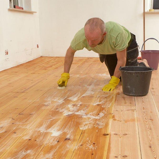 vaske gulv etter sliping
