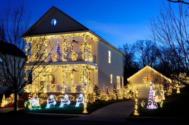 Julebelysning nabostrid