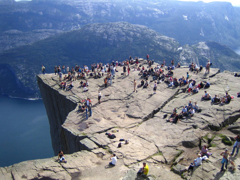 Prædikestolen. Klippeplateau i Norge