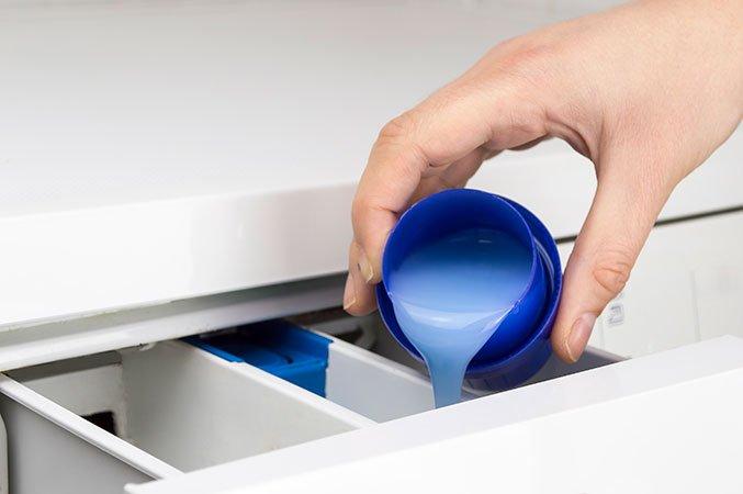 Sæbeskuffe i vaskemaskine, når den ikke trænger til rengøring.