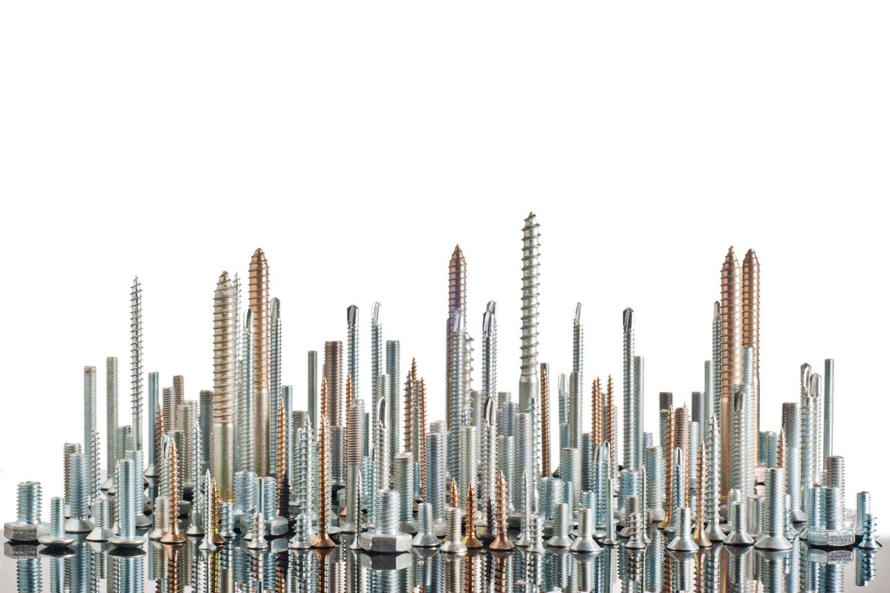 Træskruer, metalskruer, pladeskruer, specialskruer