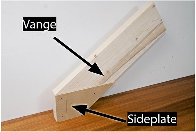 bygge trapp vinkel list