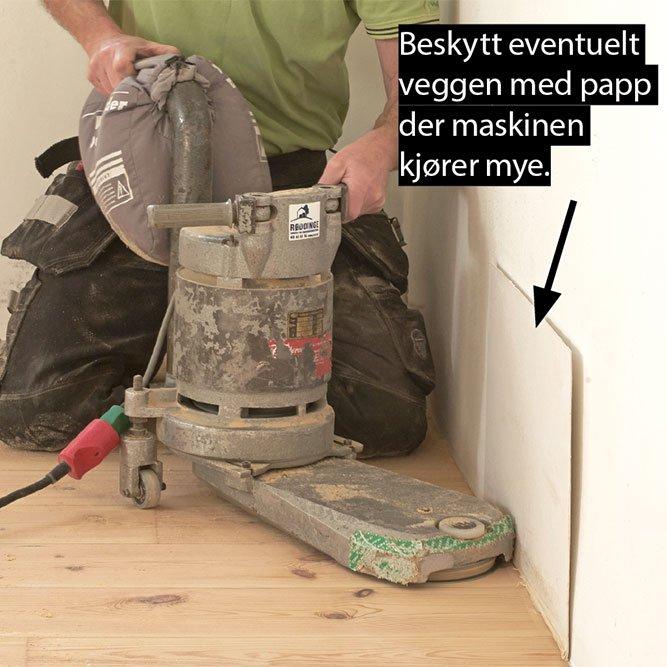guide til å slipe gulv