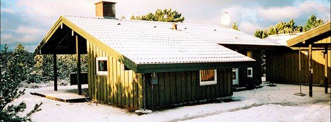 Sommerhus om vinteren med mulighed for helårsbeboelse.