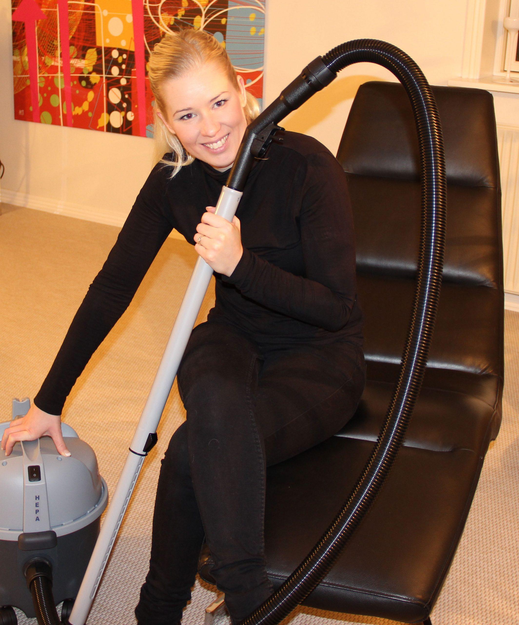 Støvsugning, Rengøringsekspert Louise Grønhøj