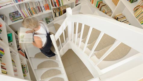 trapp med teppe