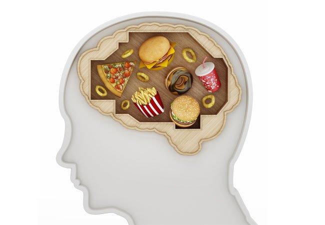 Usunde fødevarer i hjernen.
