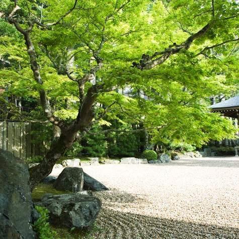 Stein og sand: I den japanske hagen er det symboler på hav og øyer.