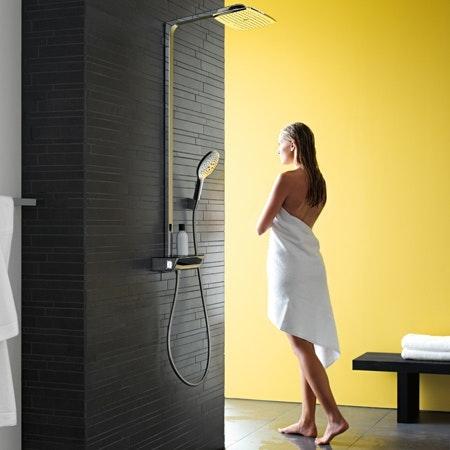 Den nye dusjen, Raindance Select, fra Hansgrohe er et dusjsystem som kombinerer hodedusj, hånddusj og termostat i étt,