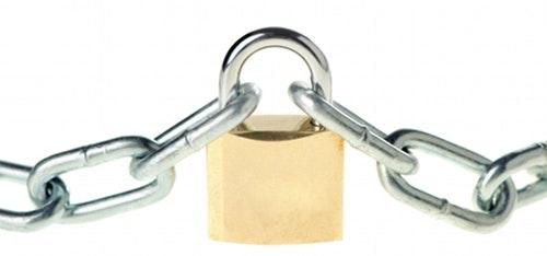 Hengelås: Kjetting og hengelås kan gjøre det enda litt vanskeligere for tyvene.