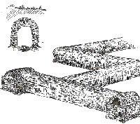 Illustrasjon av kloakkanlegg Knossos, Kreta