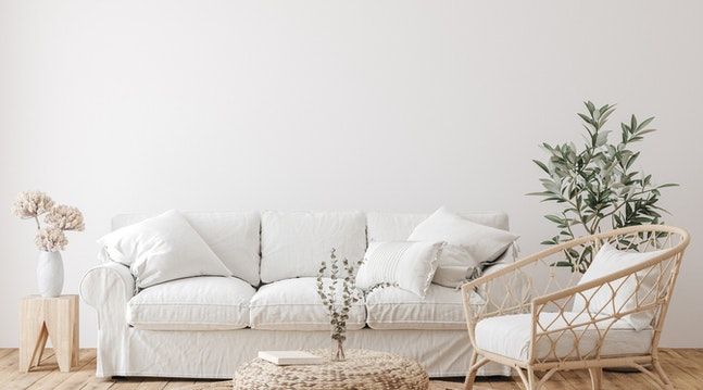 hvit sofa