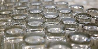 Still glassene med bunnen i været