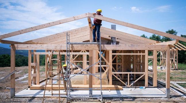 Konstruktion af nybygget hus