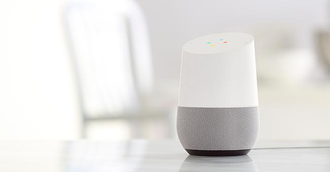 Smart-højtaler: Google Home.