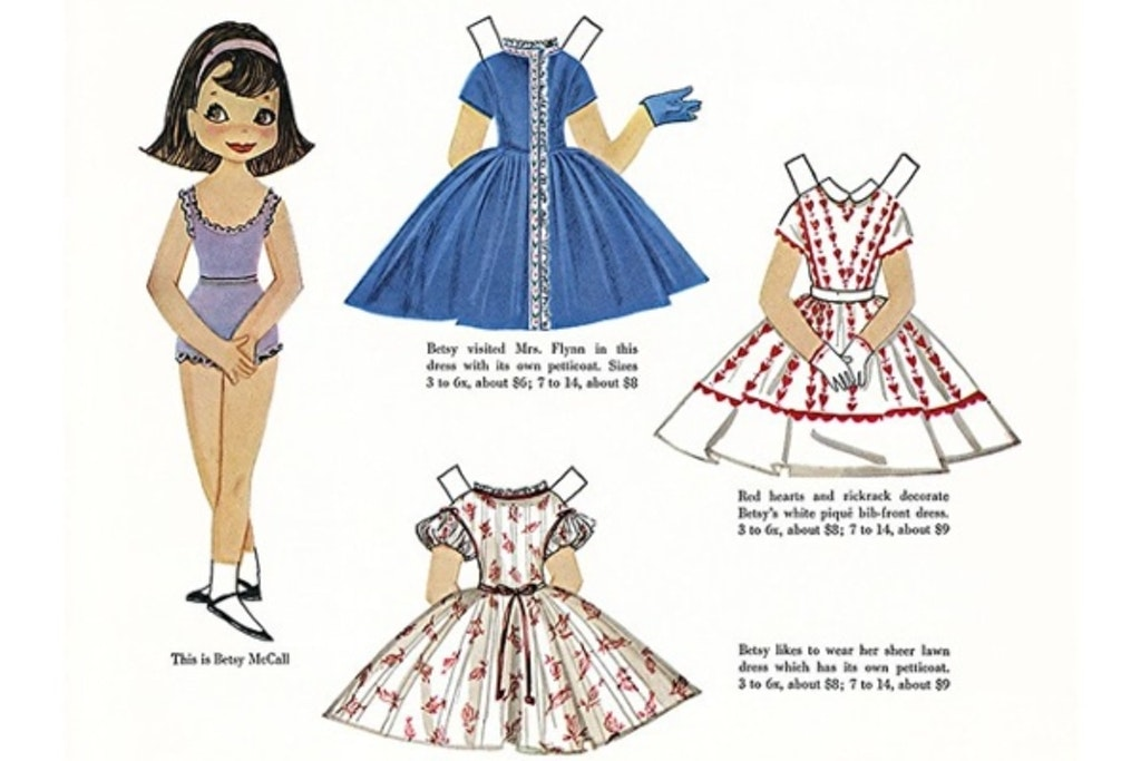 Vintage påklædningsdukker