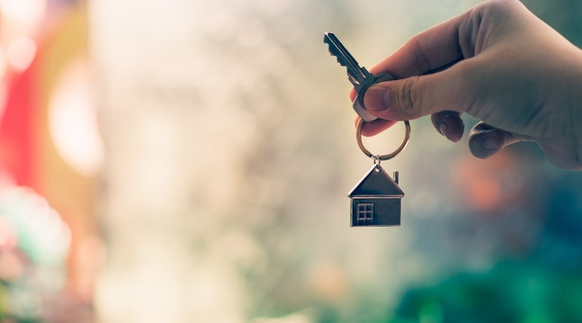 Nøgle med nøglering