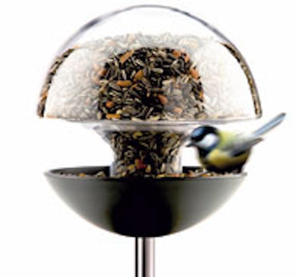 Fugle foderbræt af glas