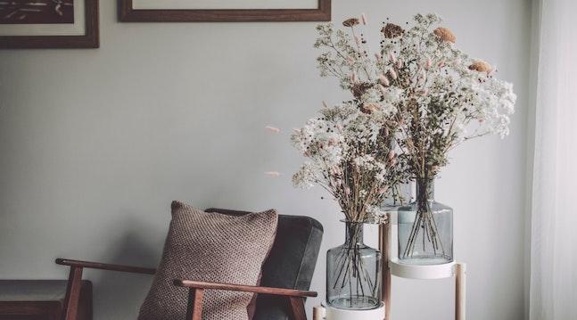 Evighedsblomster - to buketter af tørrede blomster