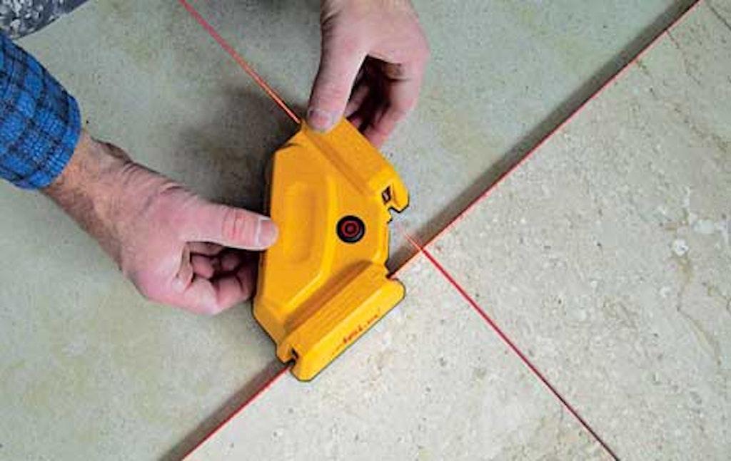 Krydslaser udsender ståler så det er nemmere at lægge fliser