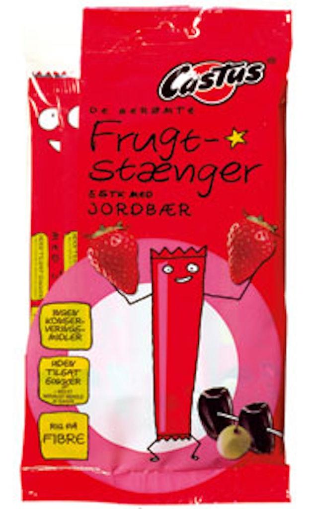 Frugtstænger med jordbær uden konserveringsmidler