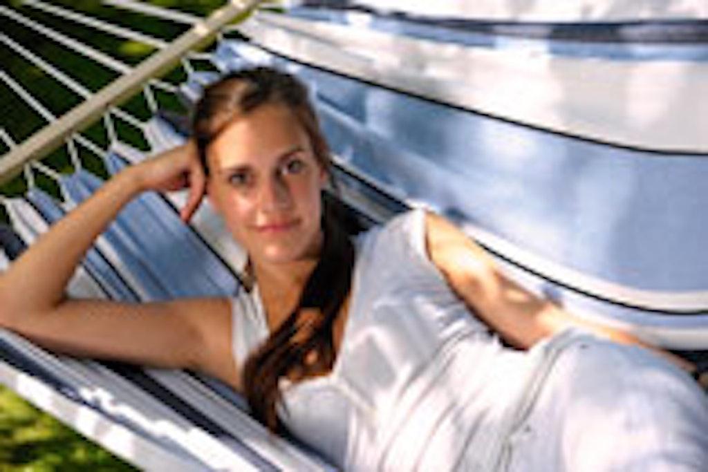 Udendørshængekøje i vandafvisende stof