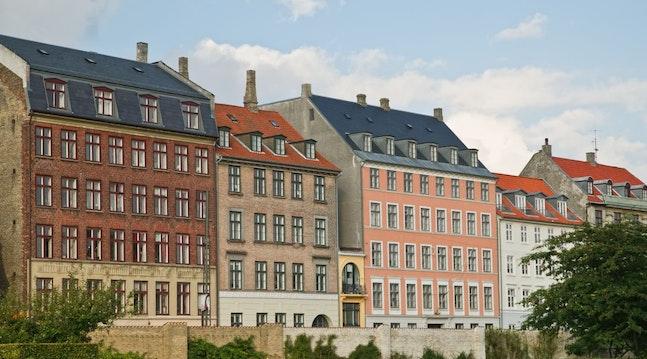 Farverige bygninger i København