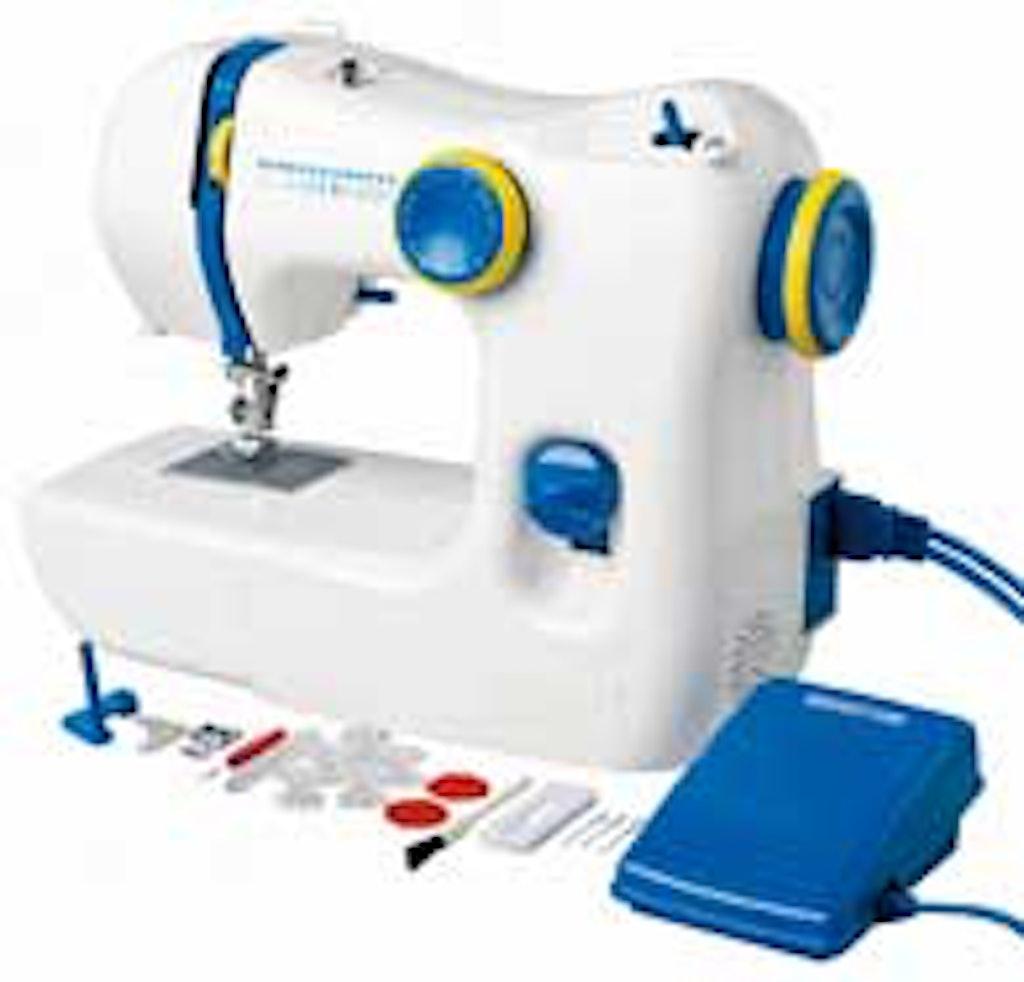 Nålen er indstøbt i symaskinen