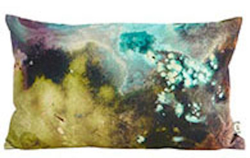 Pudenbetrækket ligner en skovsø eller et impressionistisk maleri