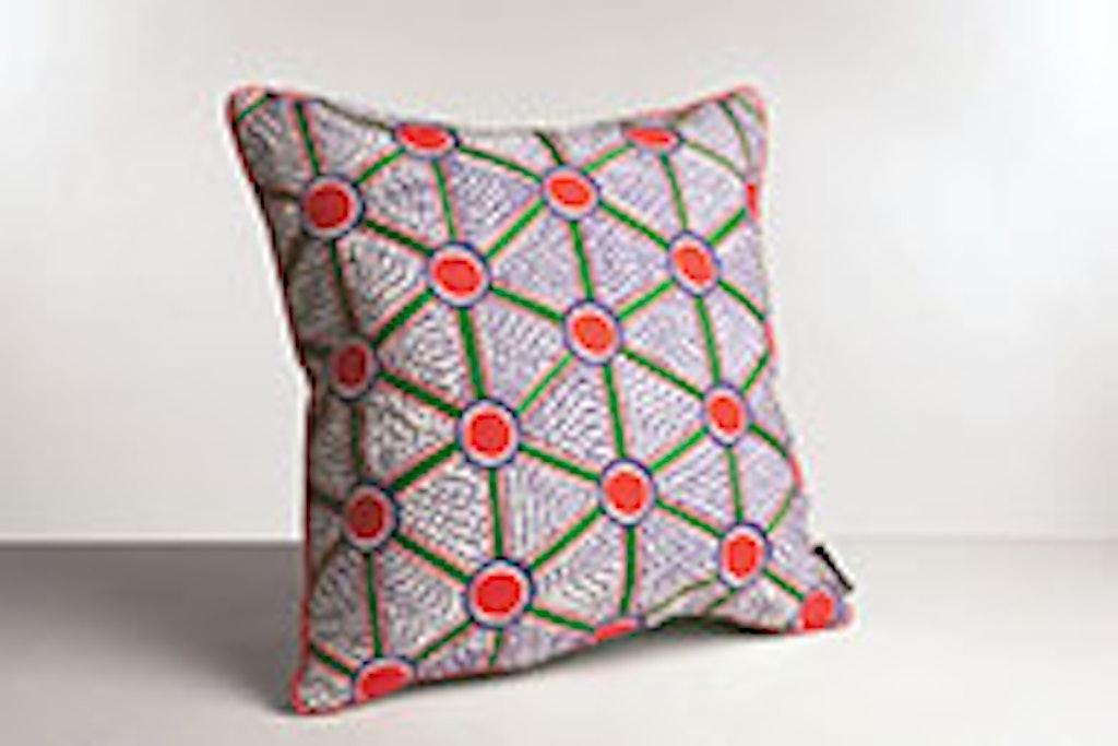 Pude med farve og mønstre