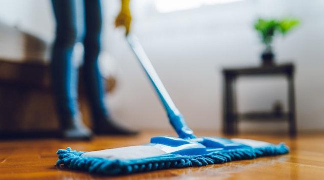 I mit hjem har vi faste rengøringsdage
