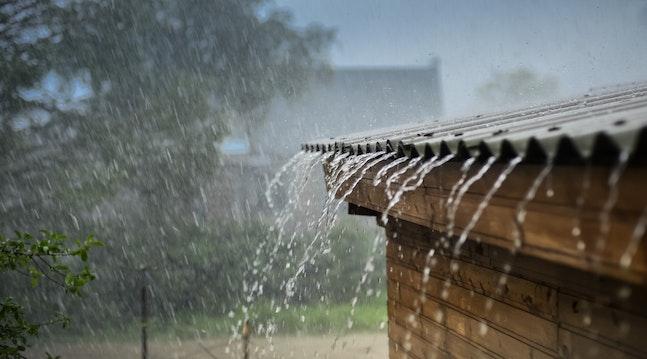 Regnvejr på tag